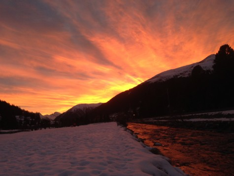 A spectacular sunset in Davos!