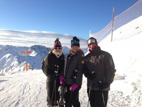 Mackenzie, Me and Dad at the top for our first run!