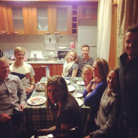 The crew celebrating Ida's Birthday