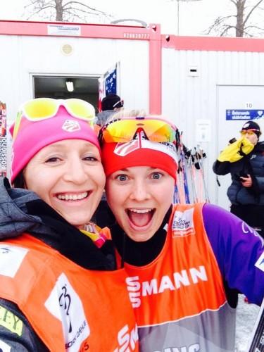Zuzana and I in the wax cabin! (photo by Zuzana)