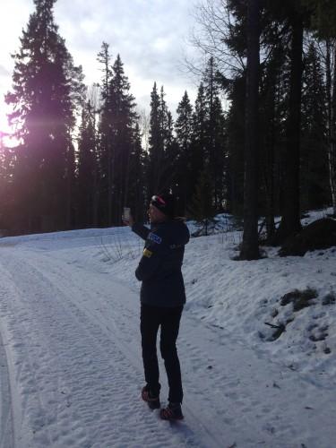 Sophie practicing her orienteering skills