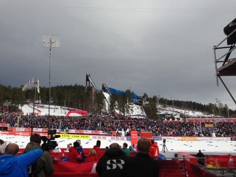 The stadium was packed full of fans! Well done, Falun!