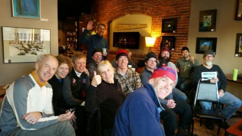The gang up in Wisconsin for the Birkie weekend, watching the race! (photo from my Mom)