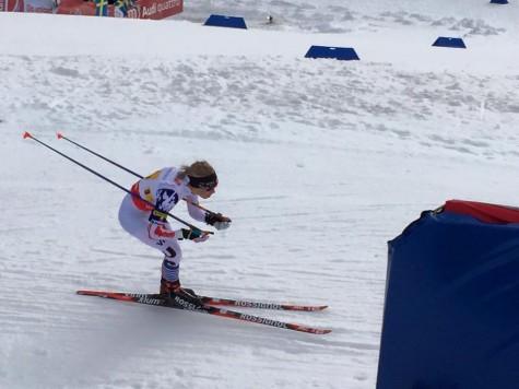 Liz navigating the fast downhill after the sprint climb (photo from Erik Mundahl)