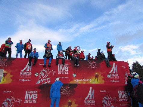 Athletes cheering from the wax cabin rooftops! (photo from Zuzana)