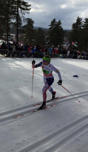 Rosie pushing it to the limit in her relay leg (photo from Erik Mundahl)
