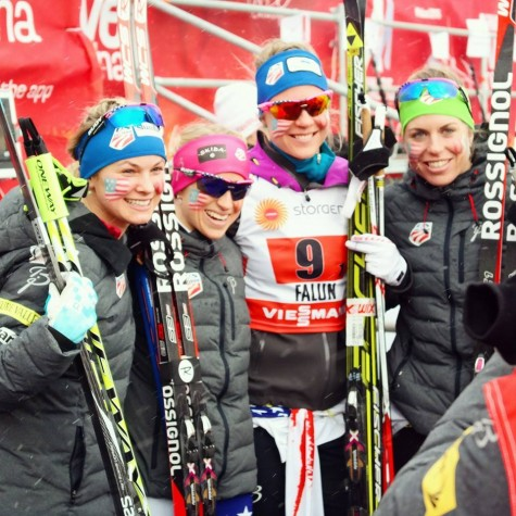The relay legs: me, Liz, Sadie and Rosie (photo from Salomon Nordic)