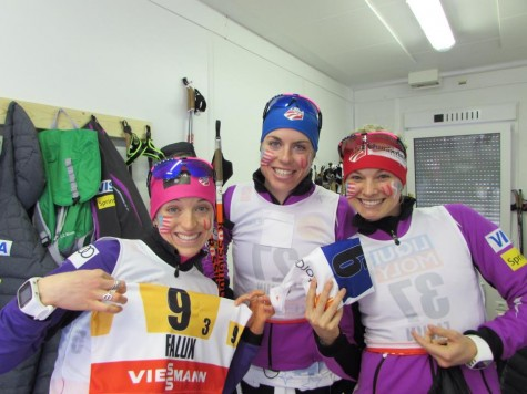 Getting our bibs a few hours before the race start! (photo from Zuzana)