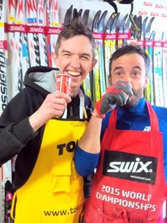"""I love this photo of """"Toque"""" and """"Jay-Pea"""" having a coke break in the wax room! (photo from Patrick Moore)"""