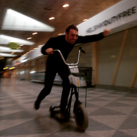 Maurice taking airport transportation to the next level!