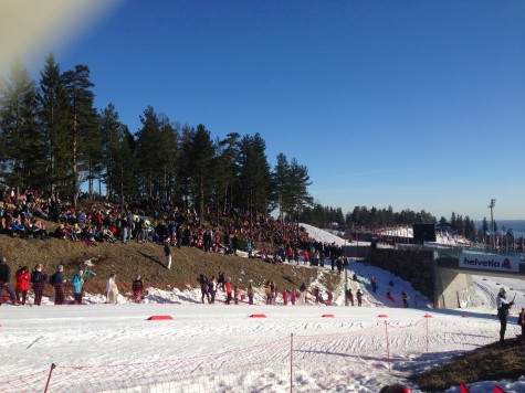 Some of the Holmenkollen crowd on one of the hills