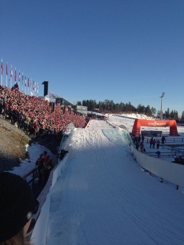 What the last 100 meters looks like when the stands are packed
