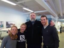 Liz, me, Juha and Maurice! (photo from Maurice)