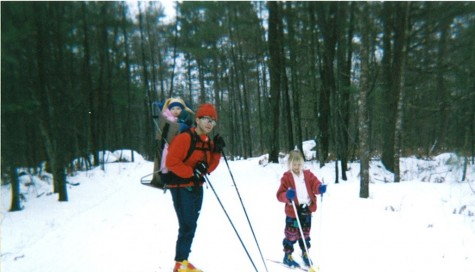 Skiing with my Dad and little Sister