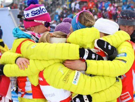 The finish line huddle
