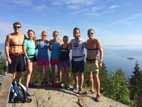 Simi, Caitlin, Me, Sophie, Liz, Connor, Andy at one of the beautiful lookout spots on our run (photo from Sophie)