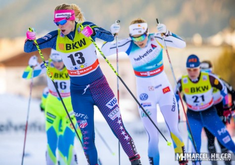A sweet sprinting shot from my quarterfinal in Davos (photo by Marcel Hilger)