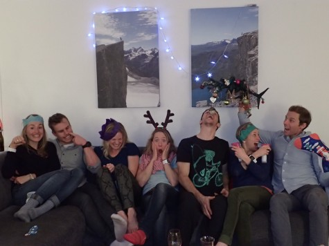 The goofy Christmas crew: Sophie, Simi, Me, Ida, Noah, Liz and Andy (photo from Noah)