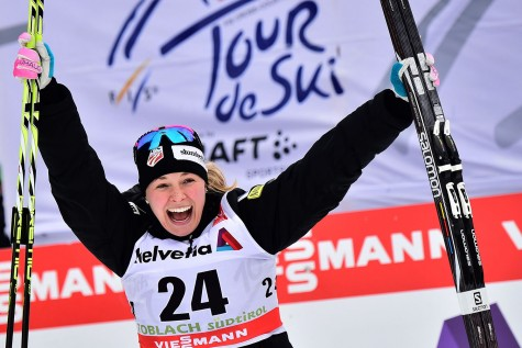 Celebrating my first World Cup individual win! (Photo credit GIUSEPPE CACACE/AFP/Getty Images)