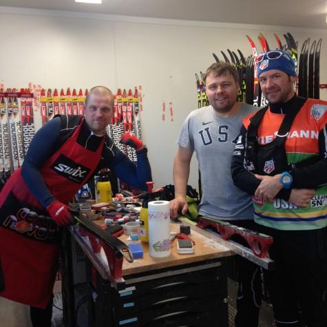 Wax room heroes! Marek, Oleg and Cork.