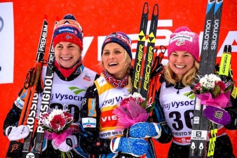 Podium girls - Astrid, Therese and me! (photo by Nordic Focus/Salomon)