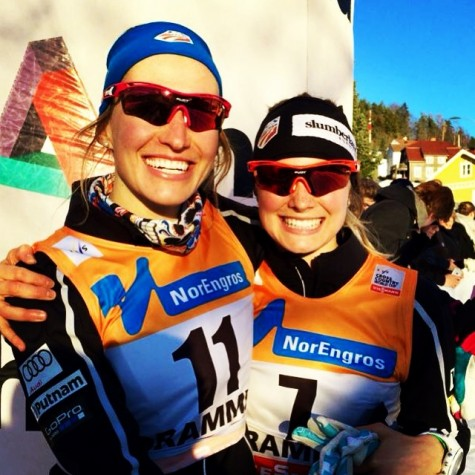 Sophie and I - first time qualifiers in Drammen! (photo from Sophie)