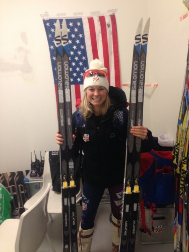 New skis! New skis! I was pretty excited to be testing.