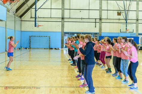 Dance class...getting warmed up! (photo from Steve Fuller)