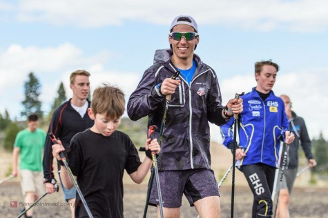 Ian our rookie getting initiated into speed camp leadership. (photo from Steve Fuller)