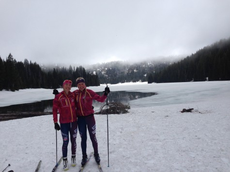 Hannah and KO, our youngest girls, joined me for some crust skiing the second to last day!