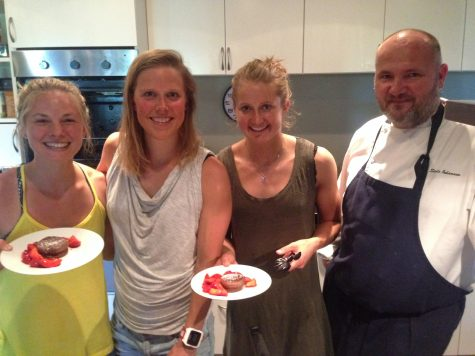 Me, Kari, Ingvild and the team Chef showing off our tasty treats!