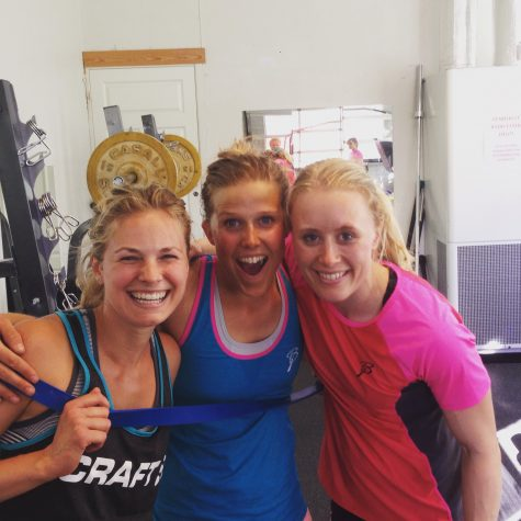 Strenght training with these two - Kari and Ragnhild! (photo from Roar)