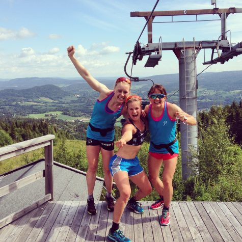 Top of the mountain with Ragnhild and Maiken!