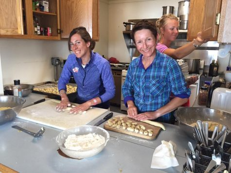 Virginia, Zuzana and Sadie on cook duty...making homemade gnocchi! Wow! (photo from Zuzana)