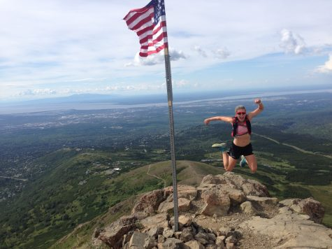 Up on top of Flat top mountain on an afternoon recovery run! (photo from Jason Cork)