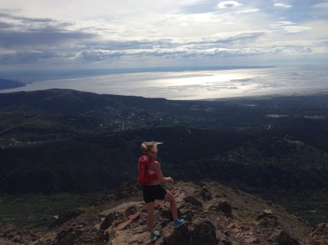 Looking out over Anchorage and the ocean from Flat top (photo from Cork)