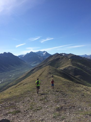 UP, and also down and across! Ridge running is pretty amazing. (photo from Sophie)