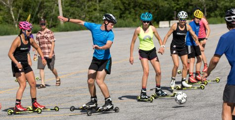 Soccer - on skate skis! (photo by Reese Brown/SIA Images)