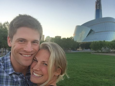 Wade and I checking out the Forks in Winnipeg!