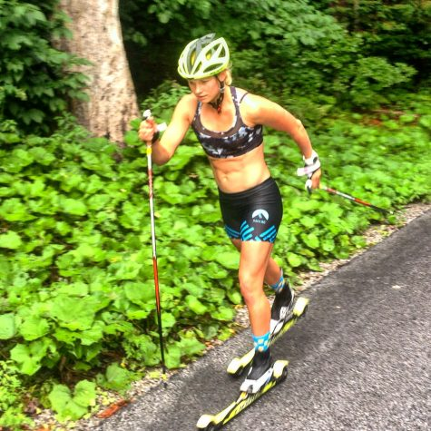 And me, testing out the new shorts during a hard classic interval session! (photo from Coach Cork)