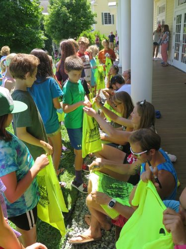 And signing the camp t-shirts...a tradition we do every year! (photo by Lilly Caldwell)