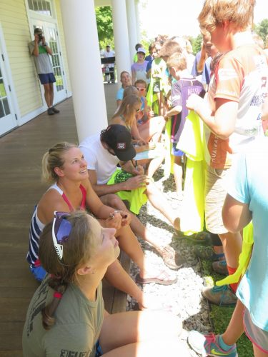 Talking with the BKL kids after camp! (photo by Lilly Caldwell)