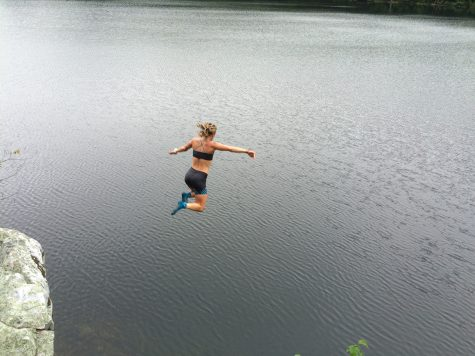 Taking a jump! (photo from Pat O'Brien)