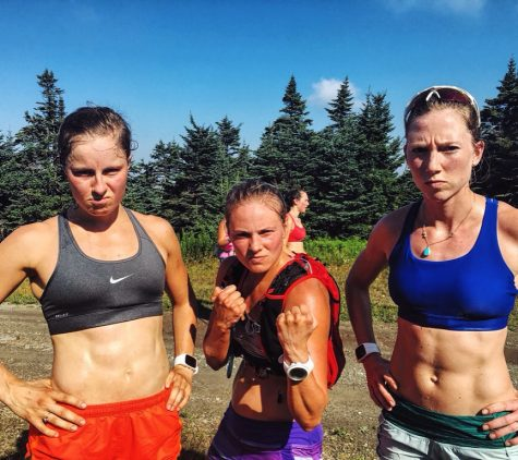 Tougher than the heat! Anne, me and Erika after our intervals on Stratton Mountain. (photo by Pat O'Brien)