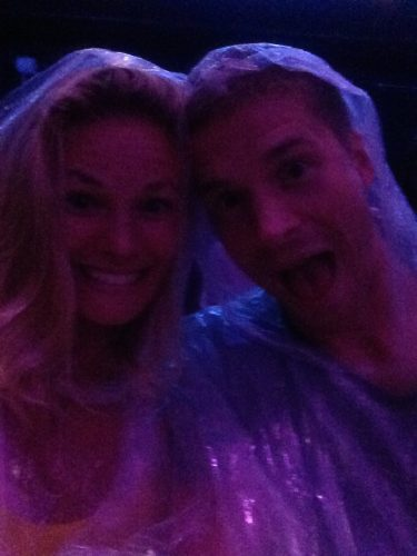 Wade and I goofing off at a Blue Man Group show.