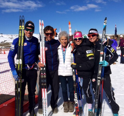 Simi, Noah, Mary Lee, Liz and I after the race! (photo from Matt Whitcomb)