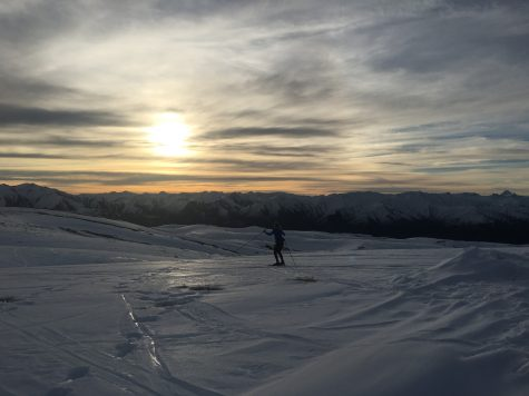The sunset skis are amazing. I was checking out the crust in this photo from Erika.