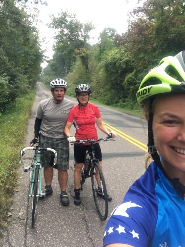 On a bike cruise with my parents!