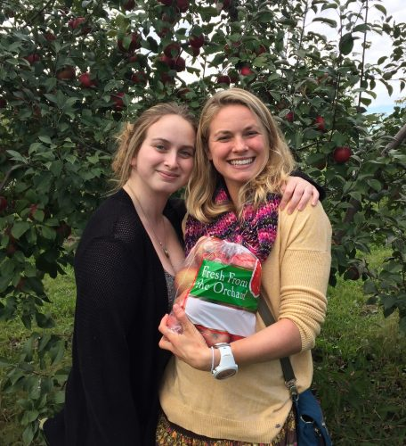 Mackenzie and I out enjoying Apple Fest! (photo from Kris Hansen)