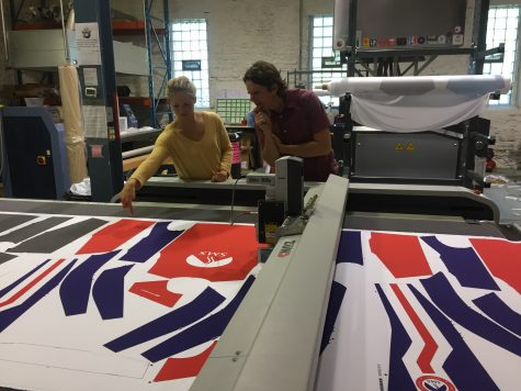 Checking out the new SMS club suits being made at the Podiumwear headquarters! (photo from Podiumwear)